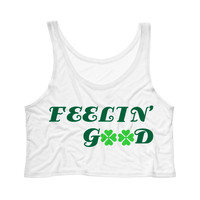 Feelin' Good St Patrick's Day Tank Top Crop