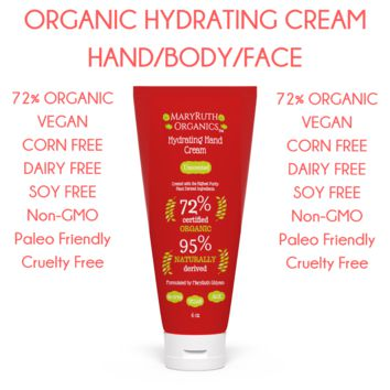 Organic Hydrating Ultra Luxurious Hand, Body, Face Cream- 4oz