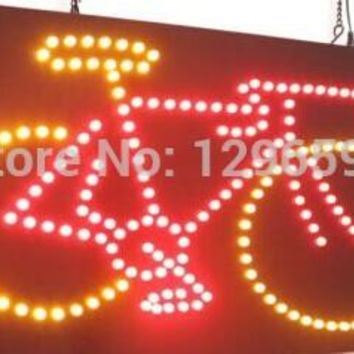 2017 direct selling Graphics custom led sign 19X19 Inch indoor Ultra Bright business bicycle store signboard