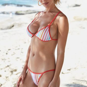 LA Hearts Contrast Binding Triangle Bikini Top at PacSun.com
