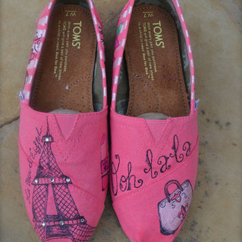 Paris Theme Custom TOMS Shoes - ADULT