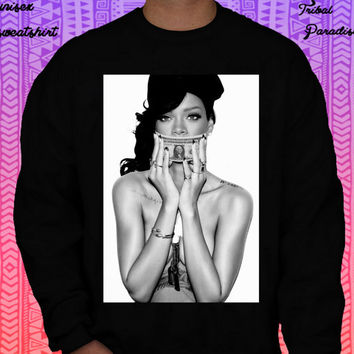 Rihanna Crewneck Sweatshirt by TribalParadise on Etsy