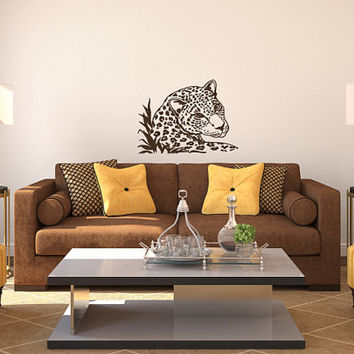Vinyl Decals Wild Leopard Animal Home Wall Art Decor Removable Stylish Sticker Mural L258 Unique Design for Nursery Baby Room