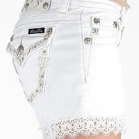 Miss Me Lace Trim Stretch Short - Women's Shorts | Buckle