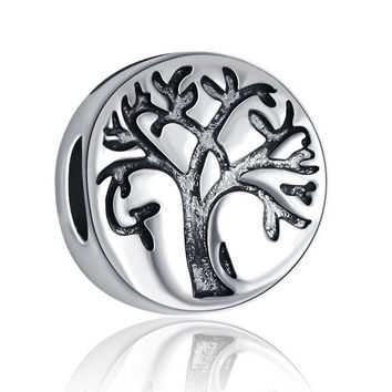 European Charm Family Tree Beads Fit Women Pandora Bracelet