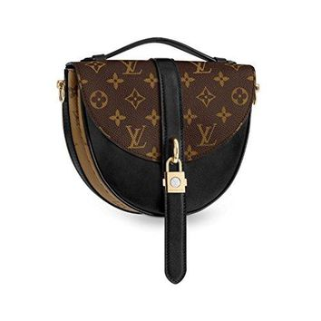 Louis Vuitton Monogram Canvas Chantilly Lock Cross Body Handbag Noir Article: M43590