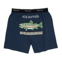Hatley Size Matters Mens Boxers - Slate Blue, Small