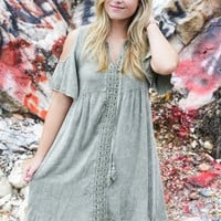 Denim Daydreams Dress, Olive
