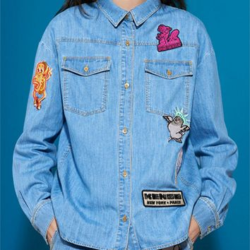 KENZO Fashion Trending Denim Jacket.