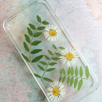 Summer Meadow Iphone  5 Case - Dried and Pressed Nordic Wildflowers - Bellies and Vicia Leafs - Unique Design