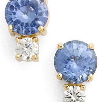 Jemma Wynne Sapphire & Diamond Stud Earrings | Nordstrom