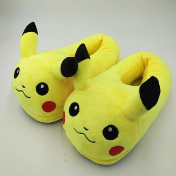 2017 Winter New Women and Men Shoes Fashion Casual Non-slip Pokemon Slippers Pokemon C