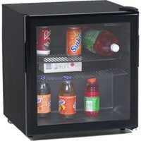 Avanti - 1.9 CF All Refrigerator w/Glass Door - Black - Black