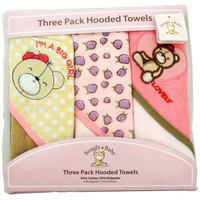 Snugly Baby 3 Pack Hooded Towels Assorted Color