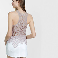 Crochet Cut-in Tank from EXPRESS