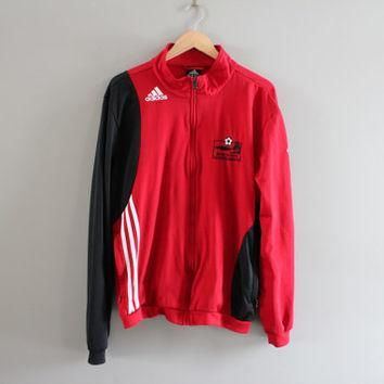 Adidas Jacket Red Adidas Jersey Jacket Training Soccer Sports Warm-Up Jacket Adidas Tr