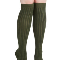 ModCloth Urban, Scholastic Basically Amazing Socks in Pine