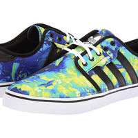 adidas Skateboarding Seeley Solar Slim/Black/Bluebird (Kryptonite Print) - 6pm.com