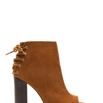 Back Talk Laced-Up Chunky Booties GoJane.com