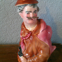 Kitschy Vintage Man Decanter - Great Scotch Bottle - Gift for Him