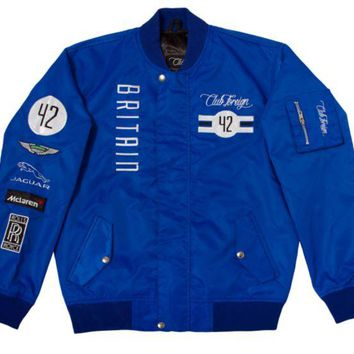 ONETOW Club Foreign Britain Racing Jacket In Blue
