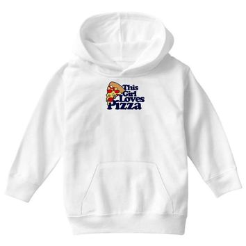 this girl loves pizza Youth Hoodie