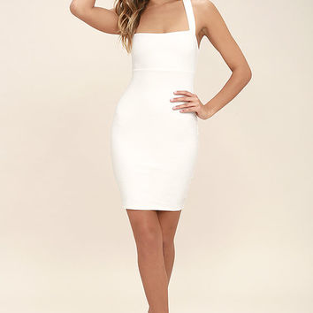 Play Time White Bodycon Dress