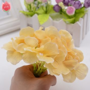 Big Silk Artificial Hydrangea Flower For Wedding Valentine's Day Living Room Decoration Mariage Flores Bride Bouquet Rosa Flower