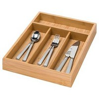 Honey-Can-Do Bamboo 4 Compartment Cutlery Tray : Target