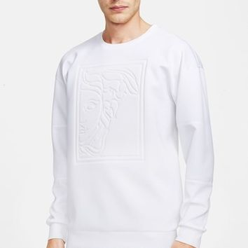 Men's Versace Collection Embossed Oversized Neoprene Sweatshirt,