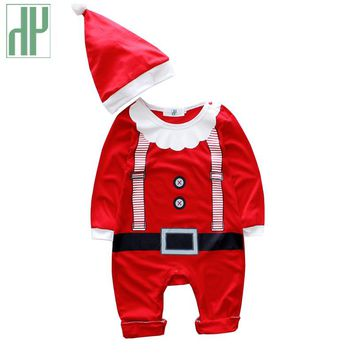 HH christmas Baby rompers costumes for boys santa claus baby outfits baby girl clothes newborn new year jumpsuit wear overalls