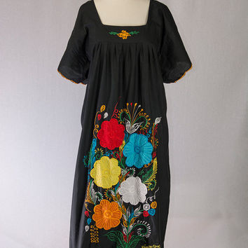 Vintage South American Embroidered Peasant Dress