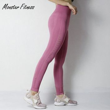 Monster Fitness 2018 Gym Tights Energy Tummy Control Yoga Pants High Waisted Sport Seamless Leggings Running Yoga Pants Women