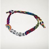 Rainbow Pride Rope Bracelet - Spencer's