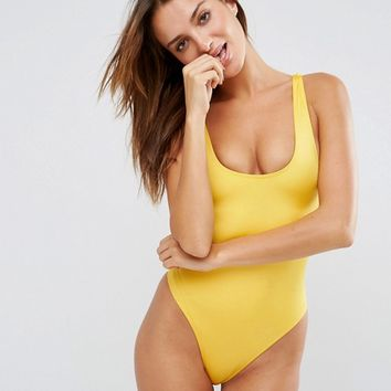 ASOS Hi-Leg Hi-Shine Bodysuit at asos.com