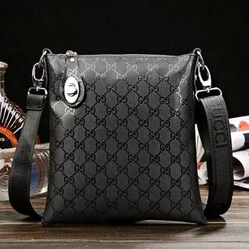 LV GUCCI Newest Popular Men Women Office Bag Leather Shoulder Bag Crossbody Satchel