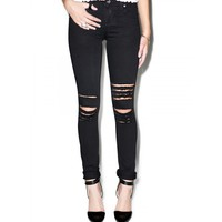 ROUGH N' ROWDY KNEE SLIT JEANS