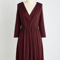 Mid-length 3 A-line After the Party Dress in Maroon