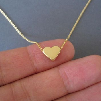 2017 New Tiny heart necklace for women Long chain Heart shape pendant necklace christmas gift XL225