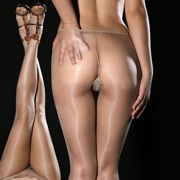 Womens Ladies Sexy Sheer Oil Shiny Glossy Classic Pantyhose Tights Stocking