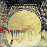 Winter in Paris Art Print by Takmaj