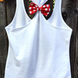 Minnie Mouse Inspired Bow Back Tank Top, Woman's, Disney Tee, Disney Tank, Racerback Tank , Bow Back Tank Top, Glitter, Disney Family Tees