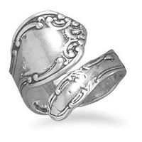 Silverflake- Oxidized Spoon Ring
