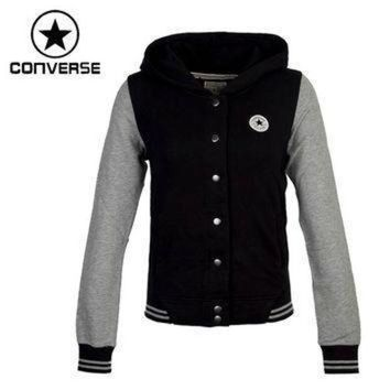 DCCK8NT original converse women s knitted jacket hooded sportswear free shipping