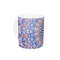 "Iris Lehnhardt ""Summer Lace II"" Circle Purple Ceramic Coffee Mug"