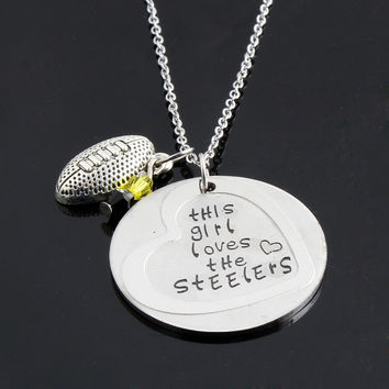"""This Girl Loves the Steelers"" Neckalce"