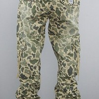 Under Two Flags The Cargo Pants in Olive Camo,Pants for Men