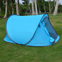 Outdoor Sport 2-3 Person Portable Quick Setup Blue Pop Up Camping Hiking Tent