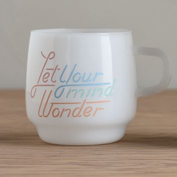 KINTO Slow Coffee Style Milk Glass Wander Mug