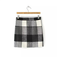 Plaid Printed Mini Skirt